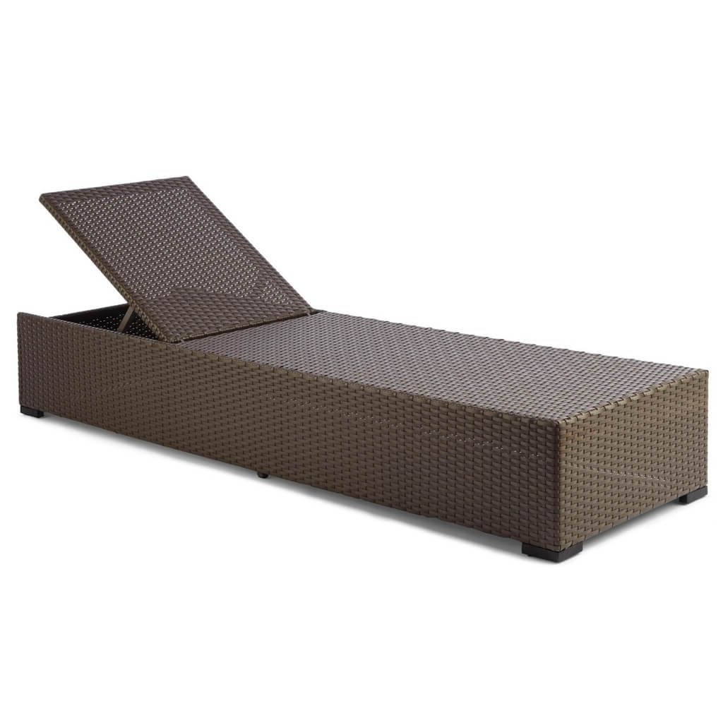 Widely Used Furniture: Resin Wicker Outdoor Chaise Lounge In Brown Finish With Outdoor Wicker Chaise Lounges (View 5 of 15)