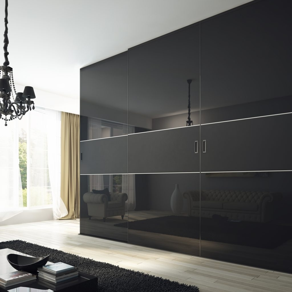 Widely Used Gloss Black Wardrobes For Amazing Black Gloss Sliding Wardrobes – Buildsimplehome (View 15 of 15)