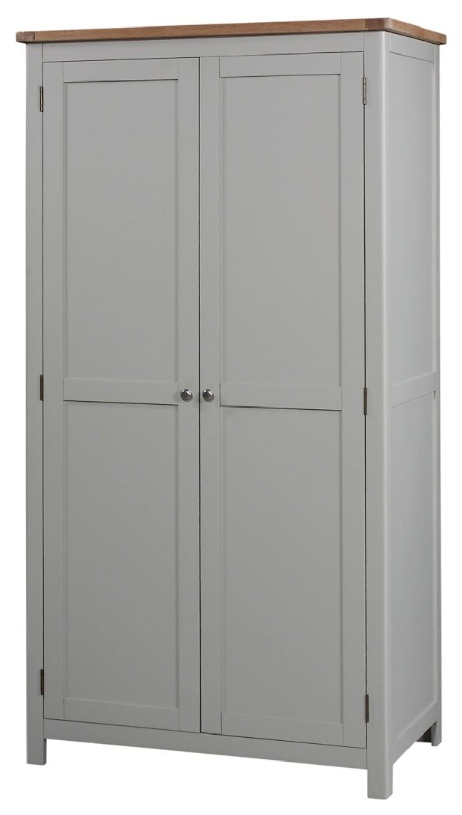 Widely Used Grey Wardrobes Throughout Grey Painted Double Wardrobe (View 15 of 15)