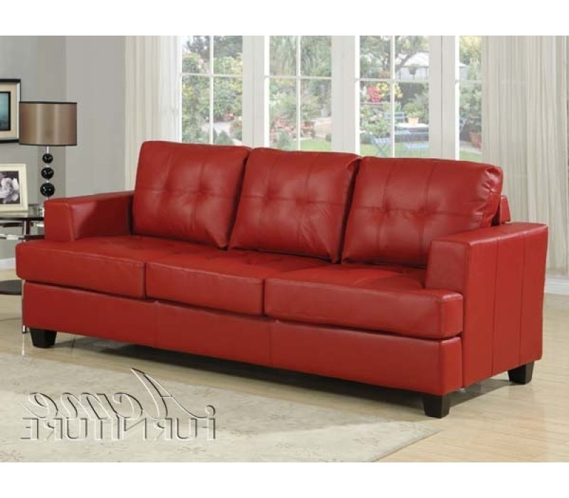 Widely Used Red Sleeper Sofas Throughout Likeable Leather Queen Sleeper Sofa Bed Modern Design Beds In Red (View 10 of 10)