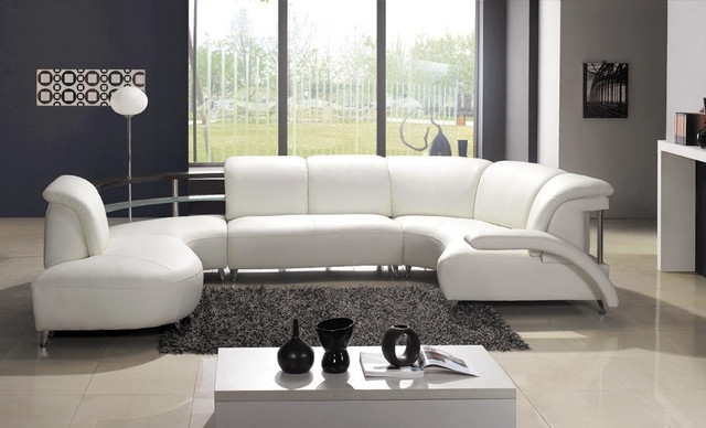 Widely Used Sectional Sofa Design: Awesome U Shaped Leather Sectional Sofa U In Modern U Shaped Sectionals (View 6 of 10)