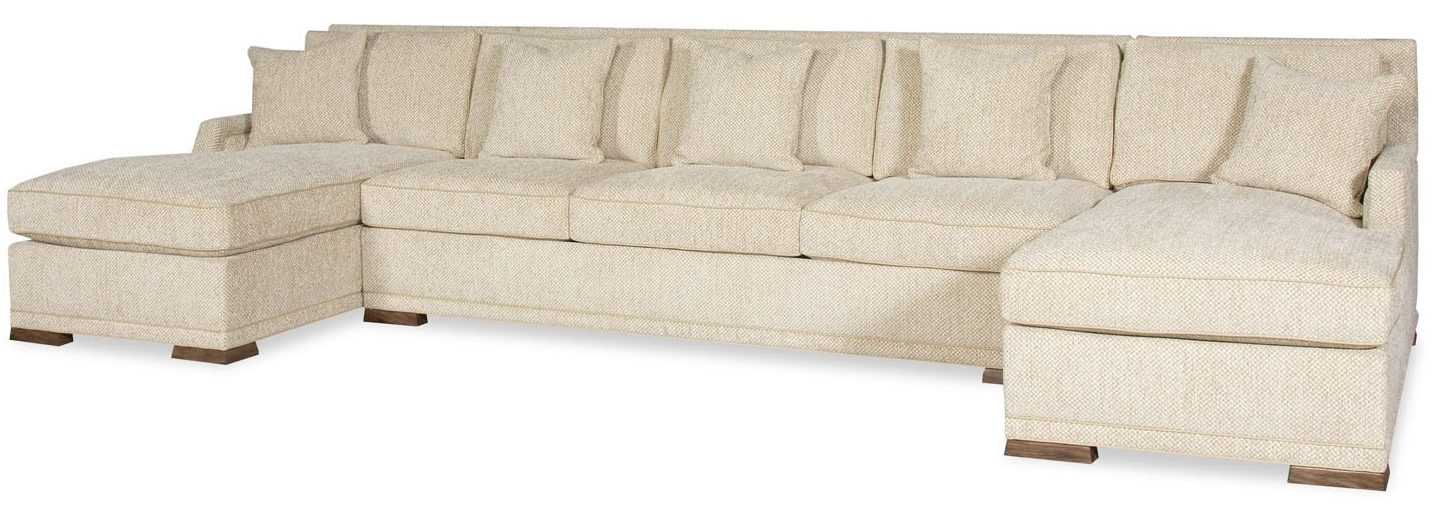 Widely Used Simple Style Large Sectional Sofa With 2 Chaises 9887 Inside Sectional Sofas With 2 Chaises (View 10 of 10)
