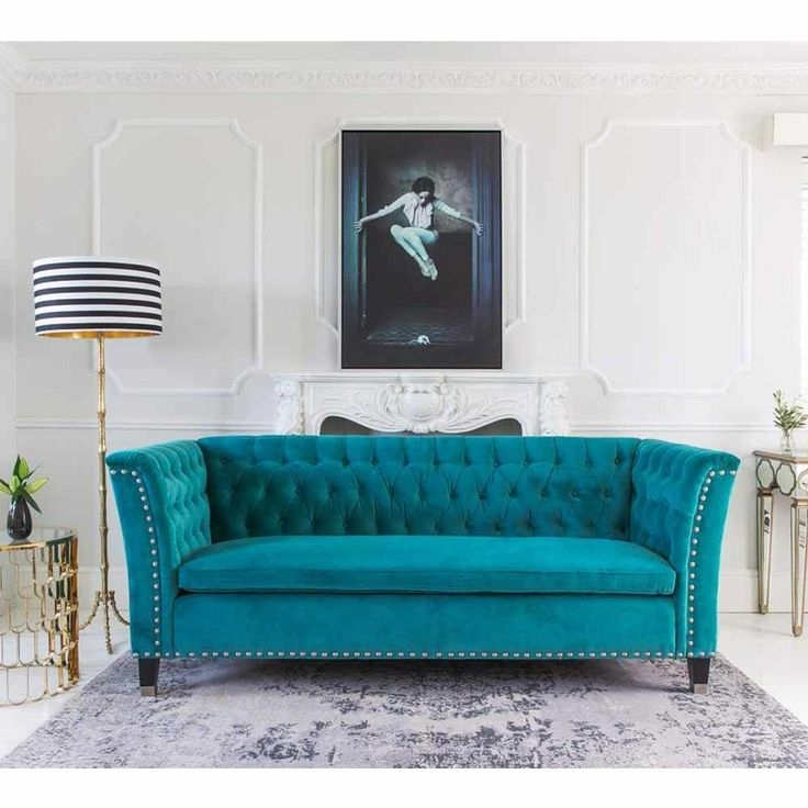 Widely Used Turquoise Sofa Design Ideas (View 9 of 10)