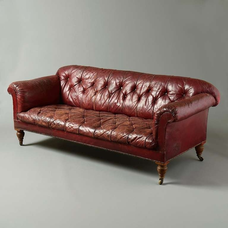 Widely Used Victorian Red Leather Sofa At 1Stdibs Regarding Victorian Leather Sofas (View 10 of 10)