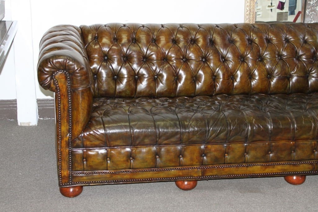 Widely Used Vintage English Chesterfield Sofa C (View 7 of 10)