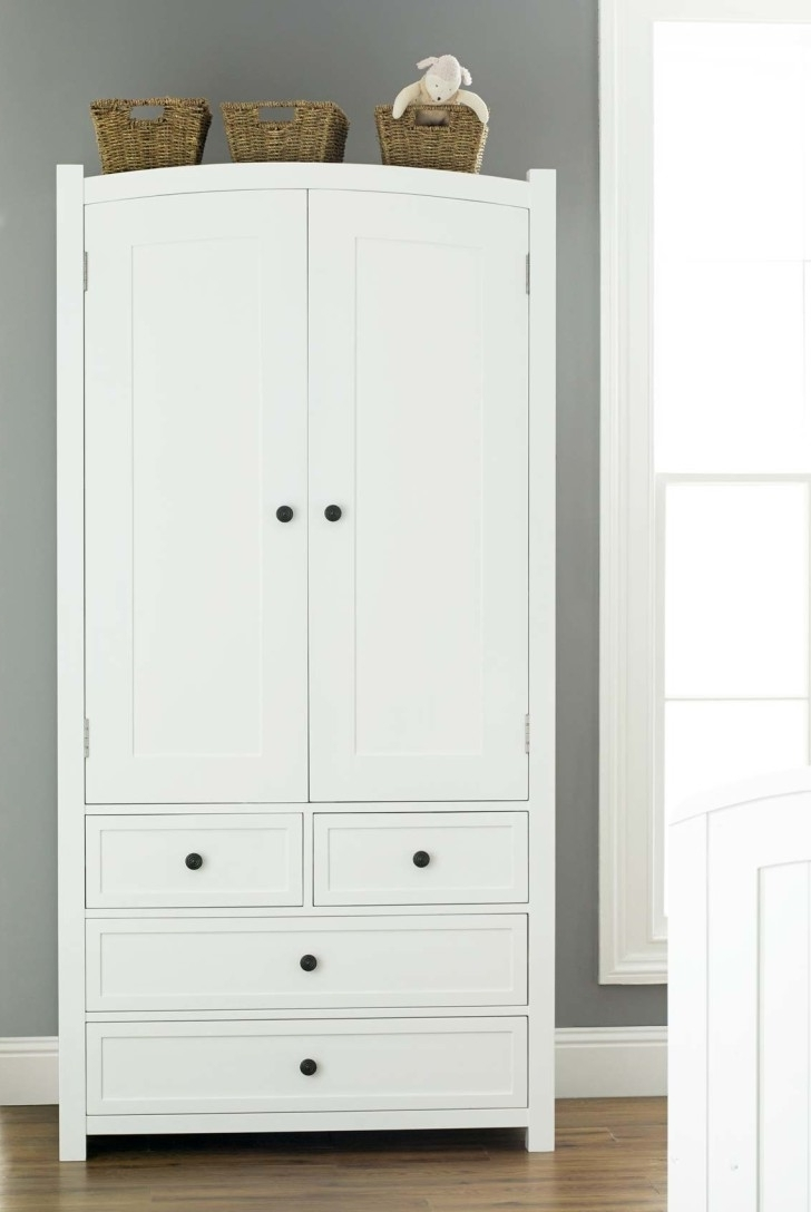 Widely Used Vintage White Wooden Wardrobe With Inside Shelves And Numerous Throughout Large White Wardrobes With Drawers (View 15 of 15)