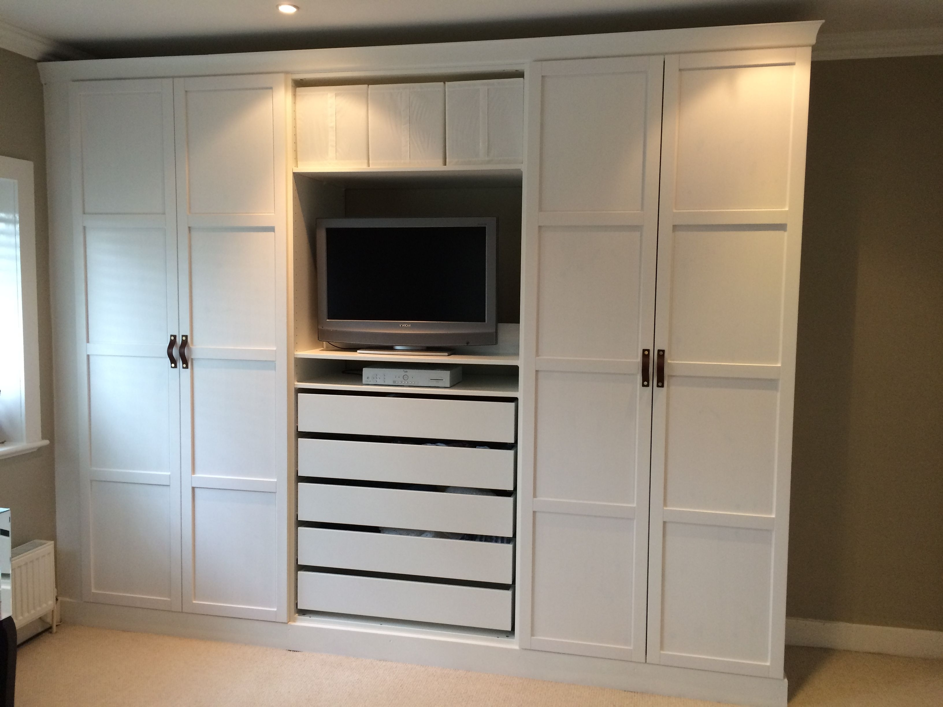 Widely Used Wardrobes And Drawers Combo Regarding Ikea Pax Wardrobes Hacked To Look Built In (View 9 of 15)