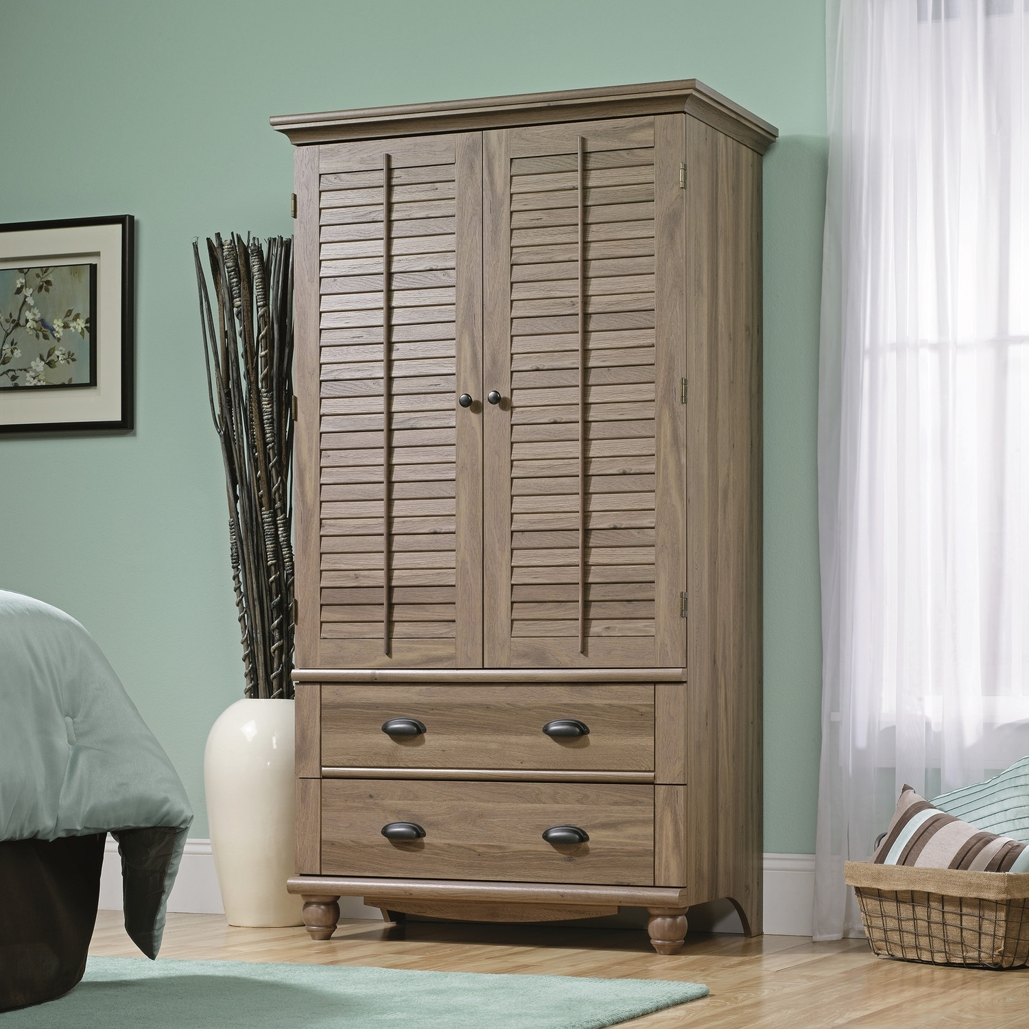 Widely Used Wicker Armoire Wardrobes Inside Bedroom: Antique Interior Storage Design With Wardrobe Armoire (View 15 of 15)