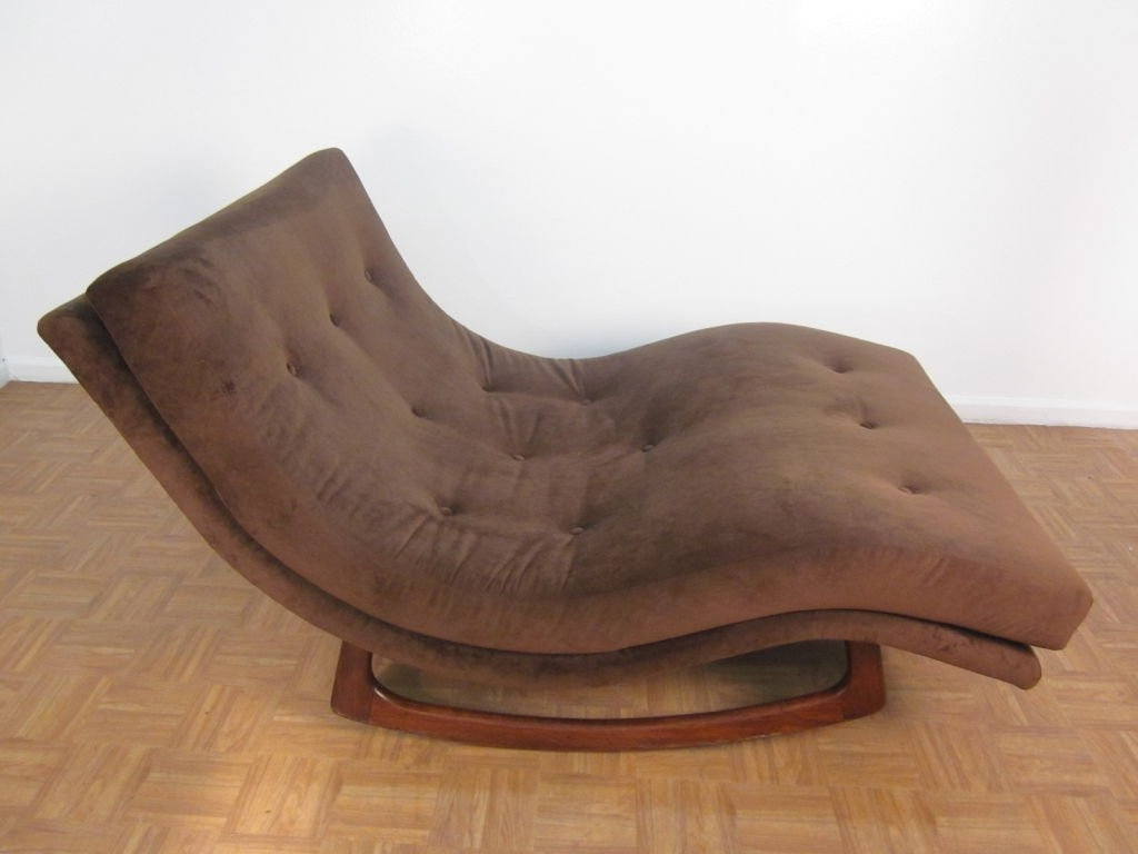 Widely Used Wide Chaise Lounges Inside Brown Fabric Double Wide Chaise Lounge Chairs With Brown Wooden (View 7 of 15)