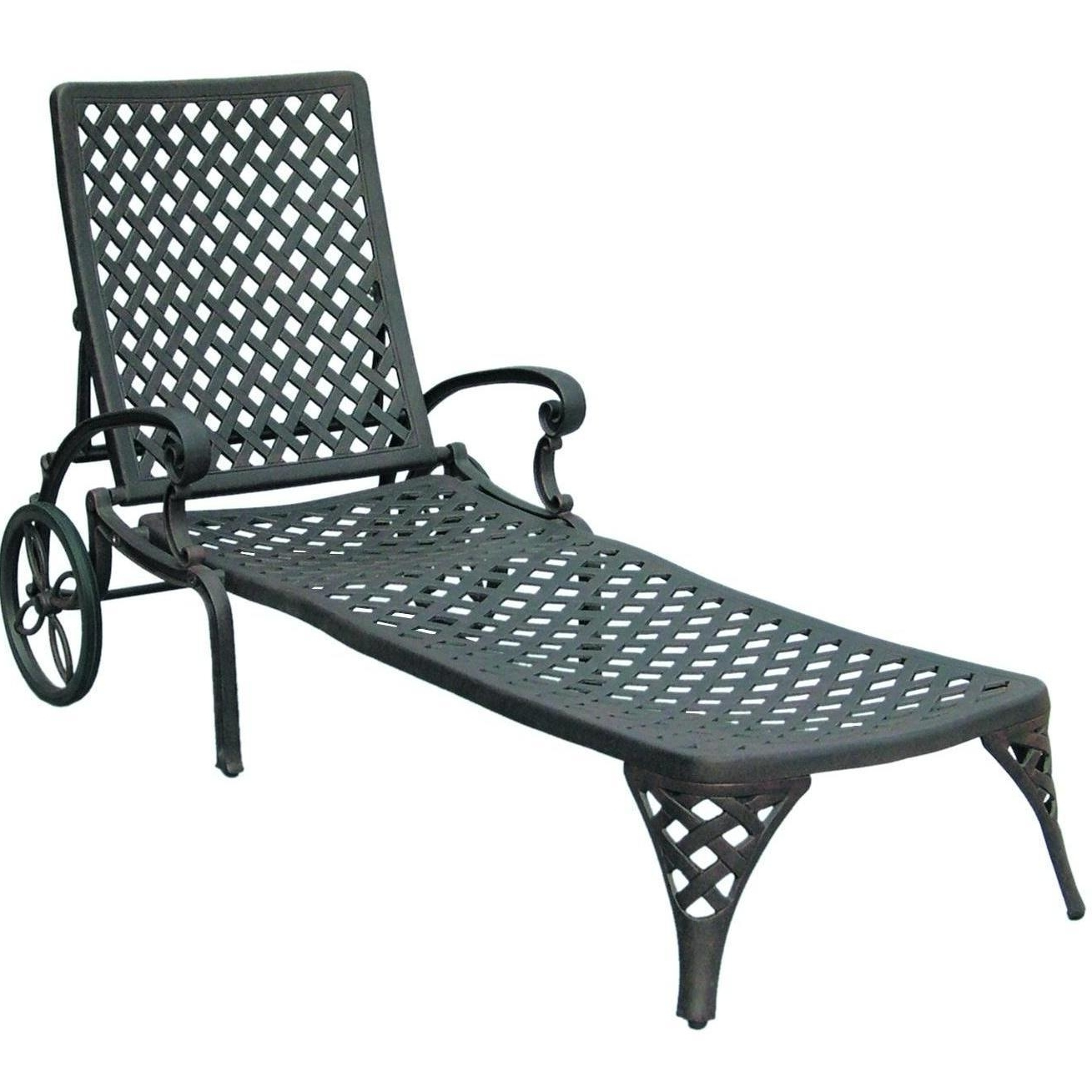 Widely Used Wrought Iron Chaise Lounges Within Darlee Nassau Cast Aluminum Patio Chaise Lounge : Ultimate Patio (View 7 of 15)
