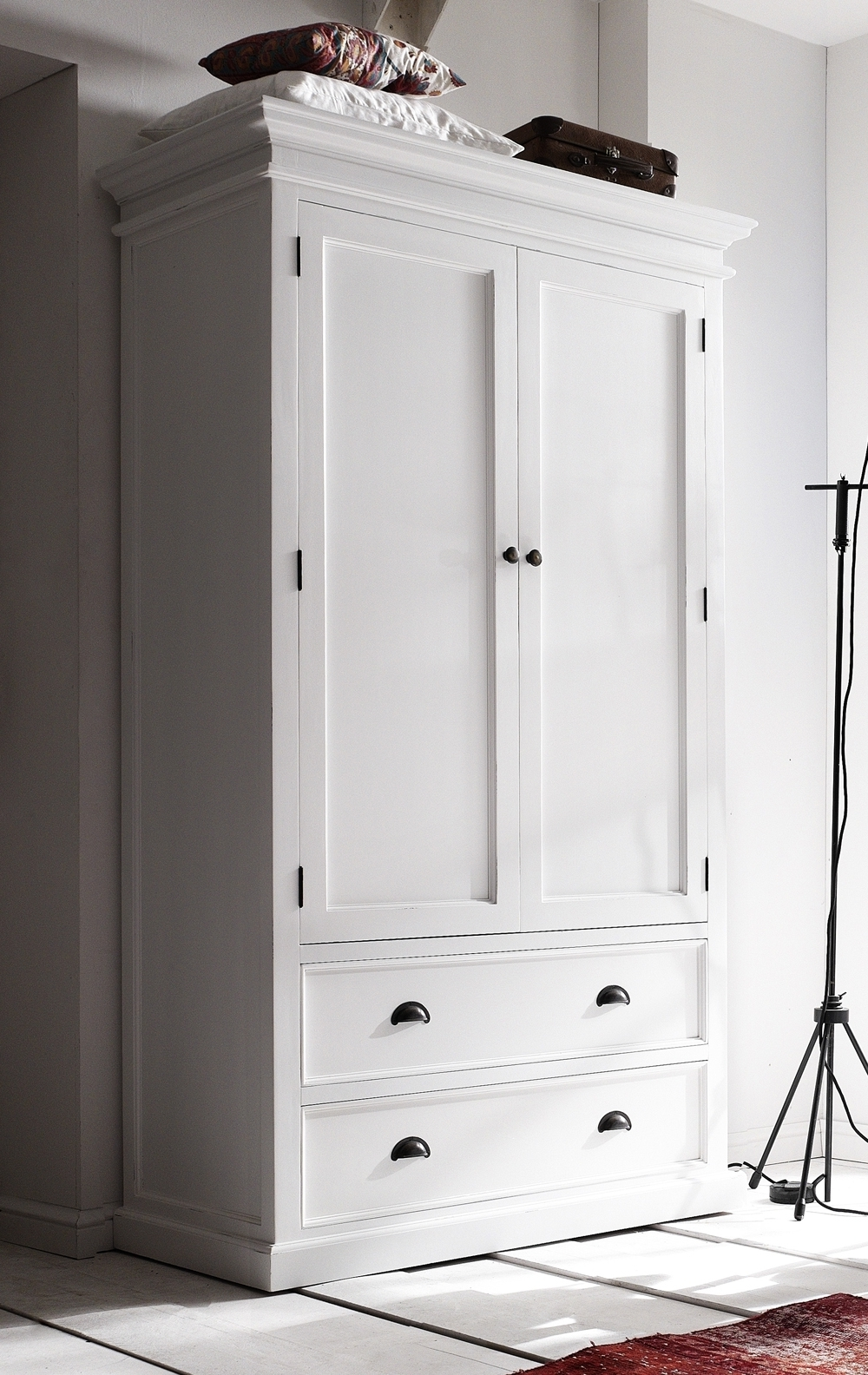 With The Best Solution To Practical But Elegant Design, The Within Newest White Double Wardrobes With Drawers (View 2 of 15)