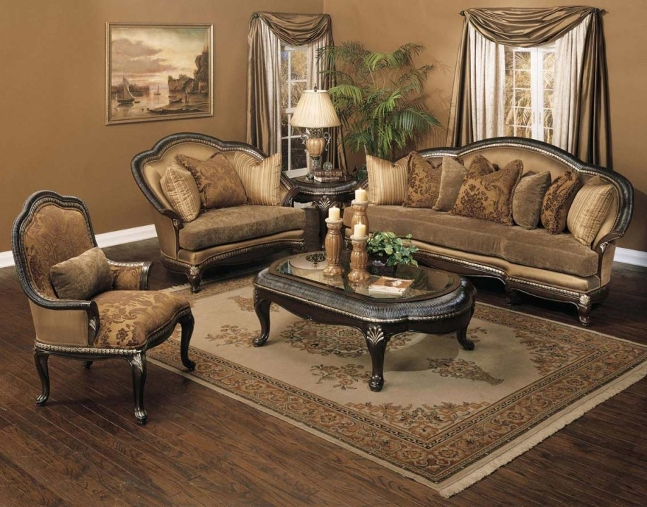 Wonderful Traditional Sofa For Your House: Stunning Fabric Pertaining To Preferred Traditional Sofas And Chairs (View 6 of 10)