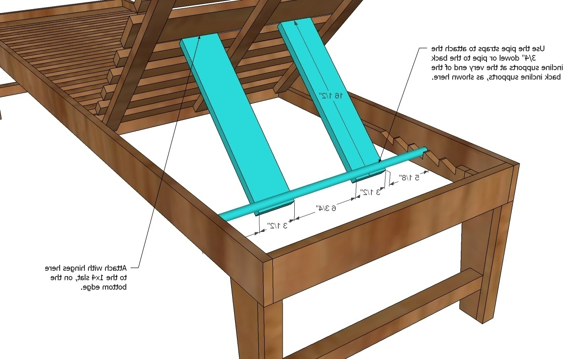 Wood Chaise Lounge Chair Plans • Lounge Chairs Ideas Intended For Recent Diy Chaise Lounges (View 3 of 15)