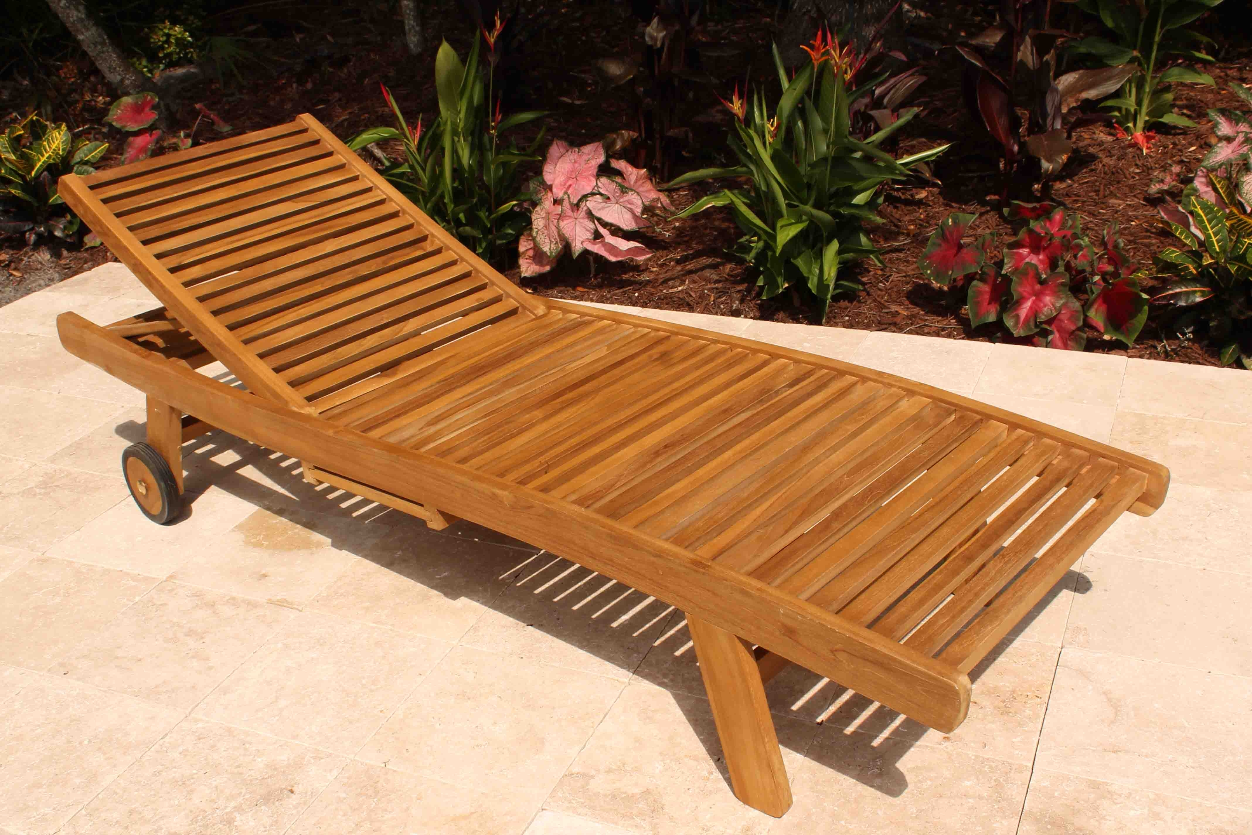 Wood Chaise Lounges Within Preferred Teak Wood Chaise Lounge Chair — Teak Furnitures : Teak Chaise (View 15 of 15)