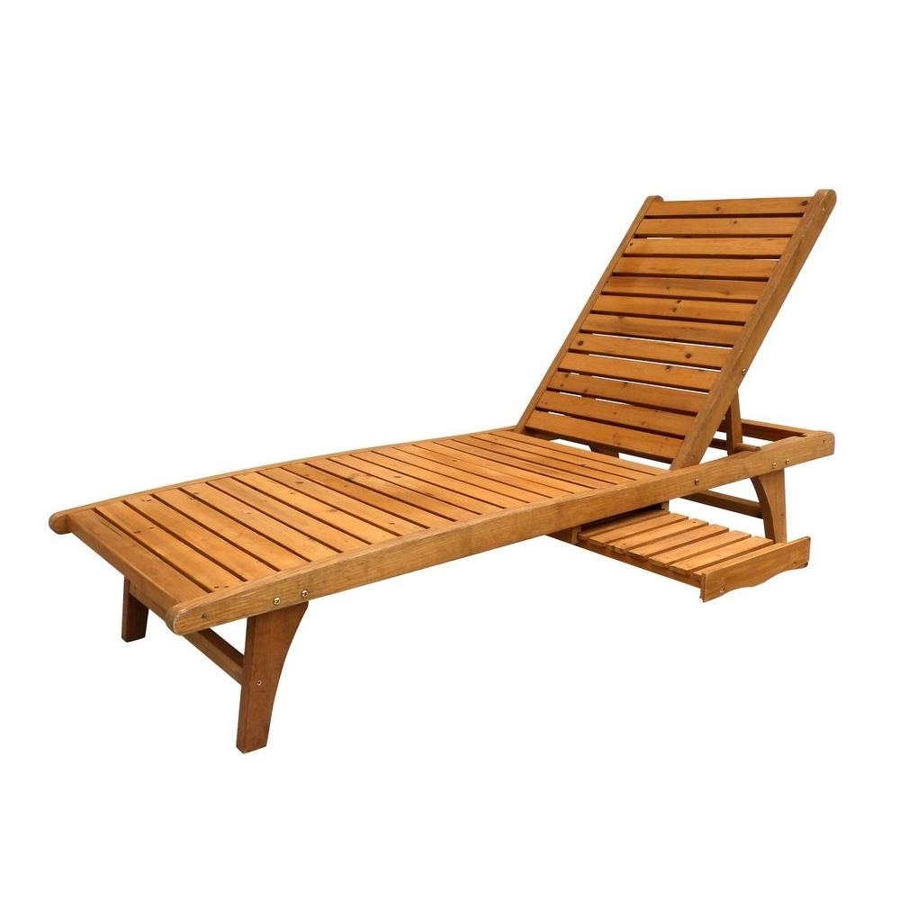 Wood – Outdoor Chaise Lounges – Patio Chairs – The Home Depot Pertaining To Current Hardwood Chaise Lounge Chairs (View 5 of 15)
