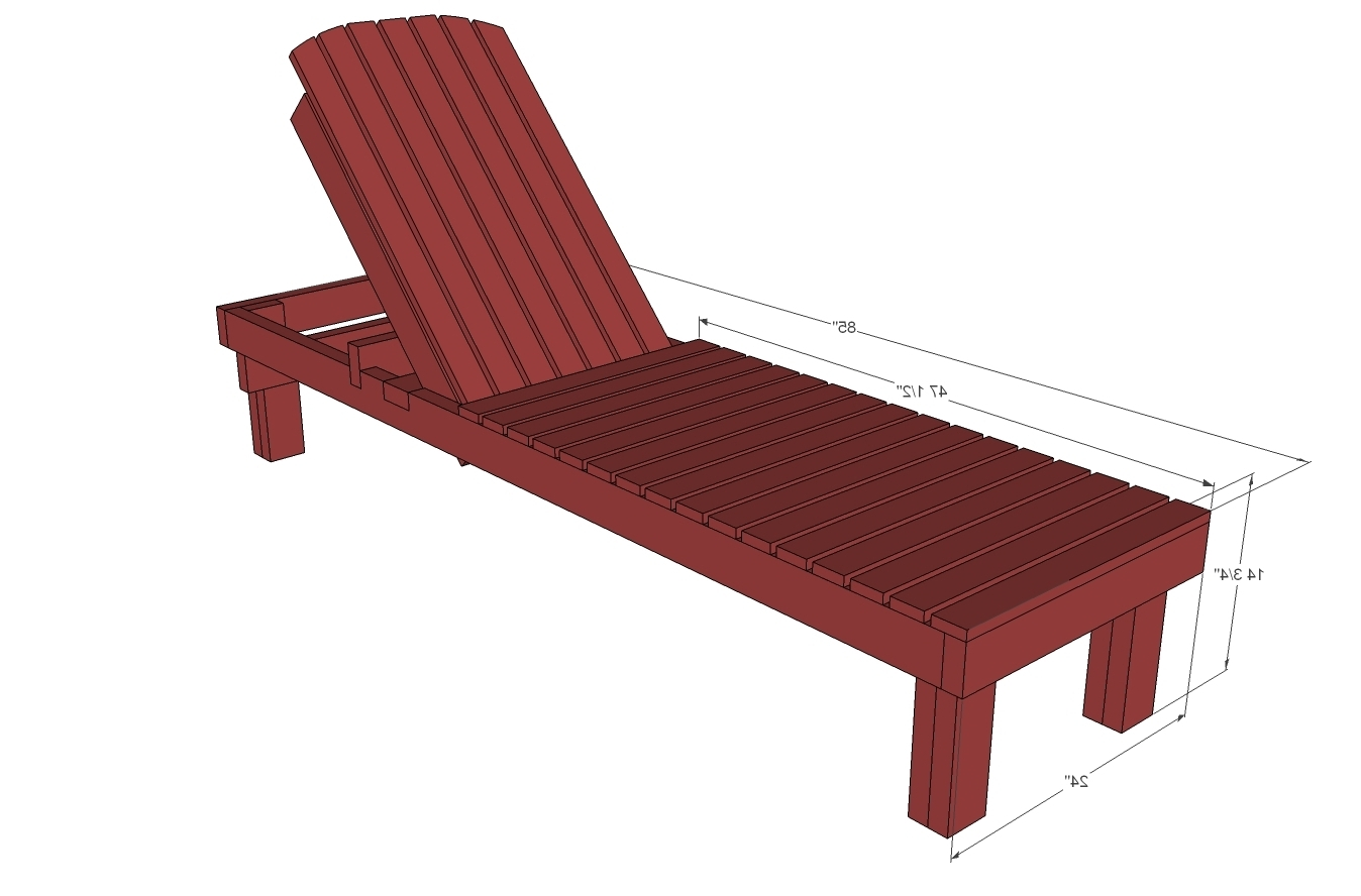 Wooden Outdoor Chaise Lounge Chairs With Regard To Favorite Outdoor Wood Lounge Chair Plans • Lounge Chairs Ideas (View 5 of 15)