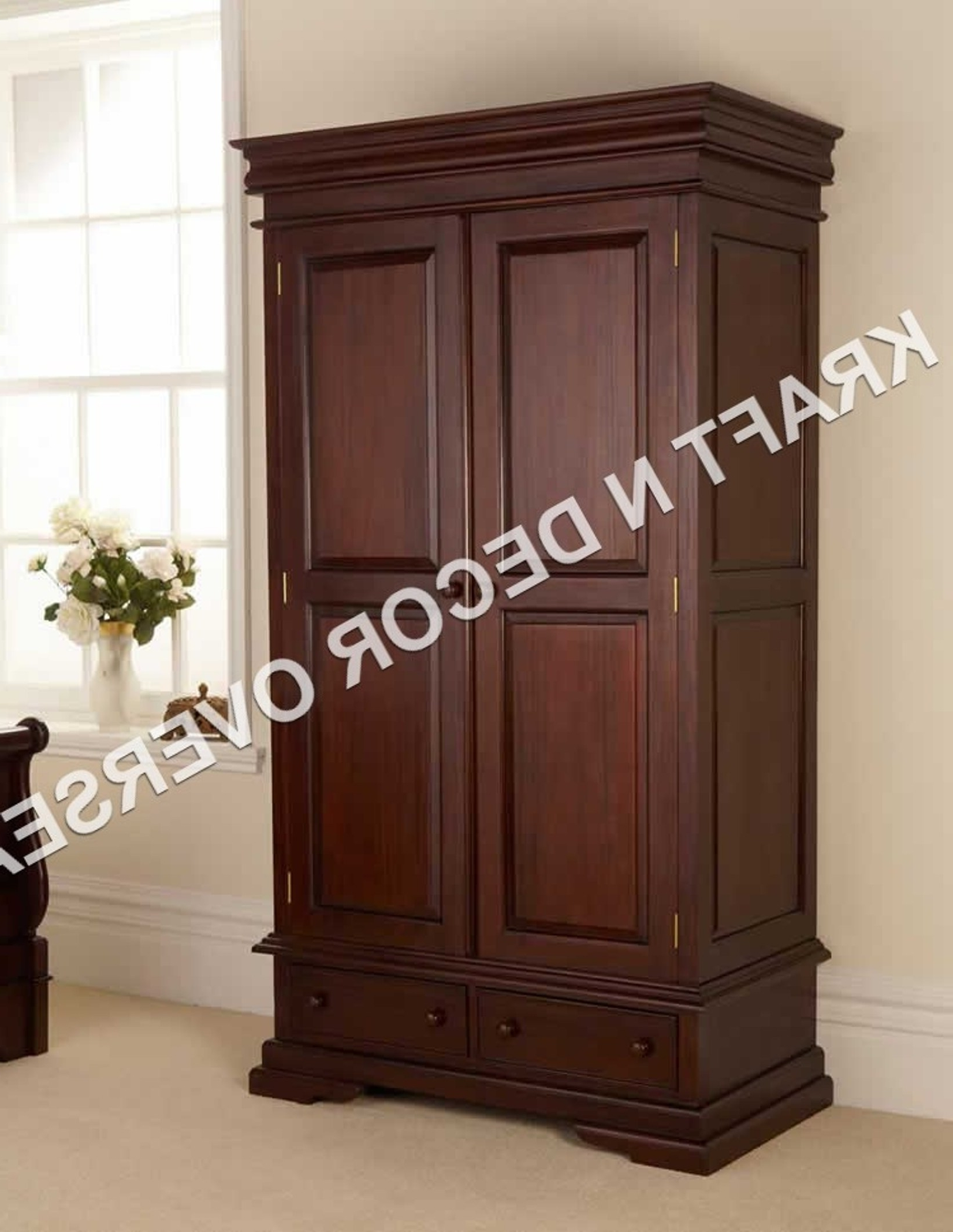 Wooden Wardrobes Kraft N Decor Throughout Well Known Wooden Wardrobes (View 6 of 15)