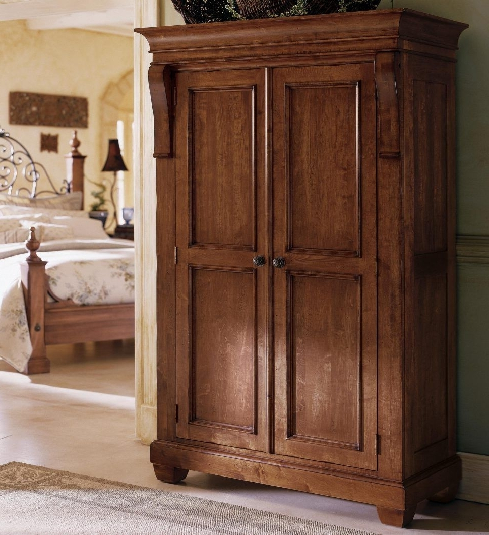 Wooden Wardrobes Pertaining To Newest Good Furniture : Wooden Wardrobes For Sale Furniture Armoire (View 12 of 15)