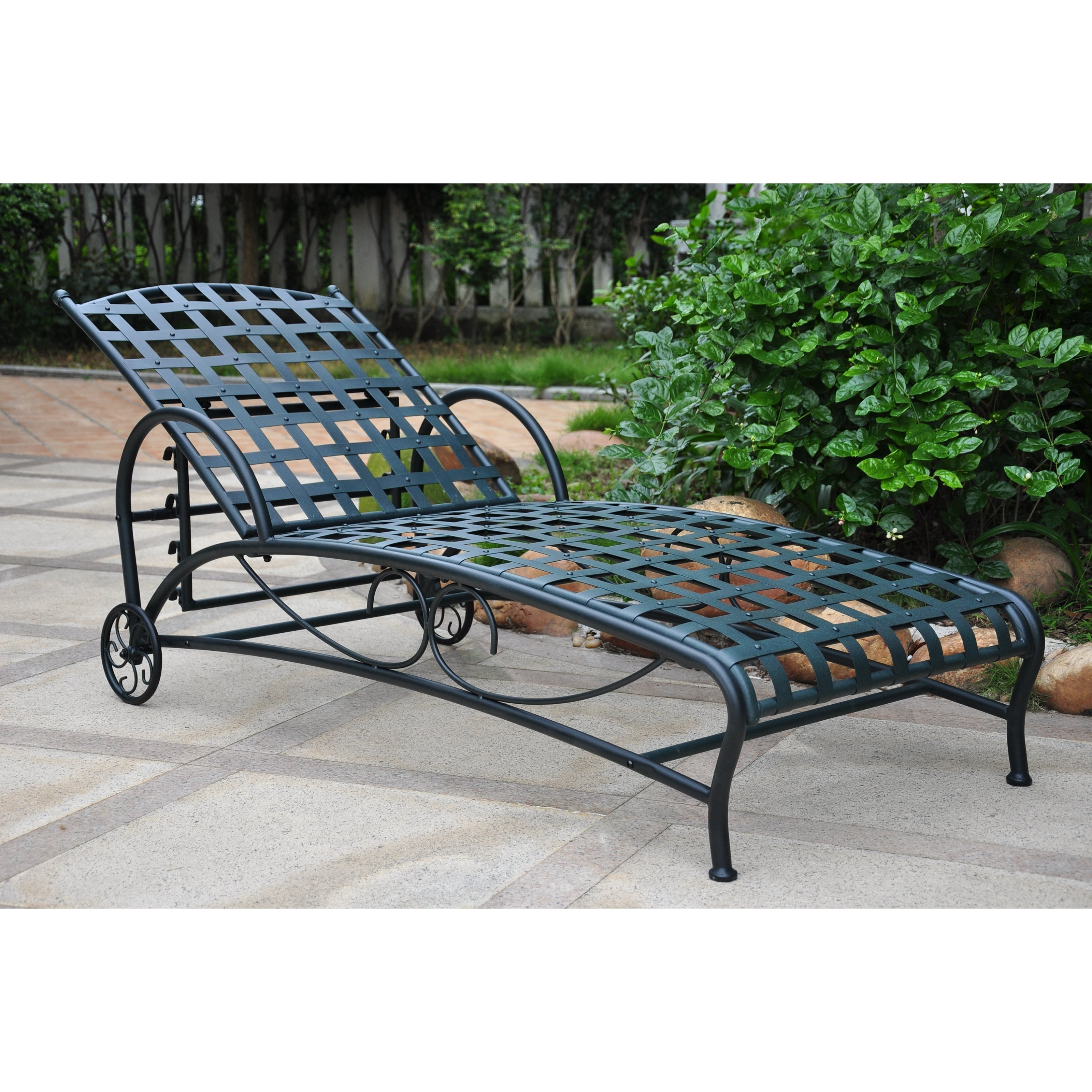 Wrought Iron Chaise Lounges With Most Up To Date Belham Living Capri Wrought Iron Multi Position Single Outdoor (View 9 of 15)