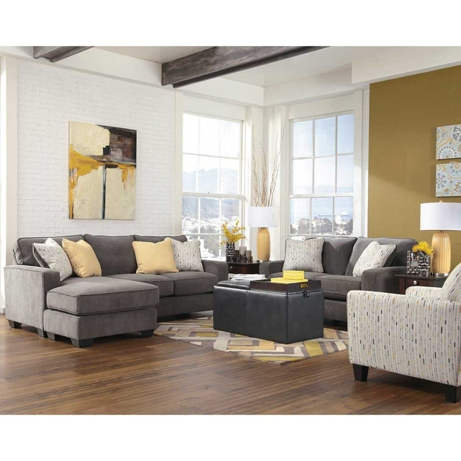 Yellow Chaise Lounge Chairs With Regard To Fashionable Living Room Cool Image Of Living Room Decoration Using Grey Fabric (Gallery 7 of 15)