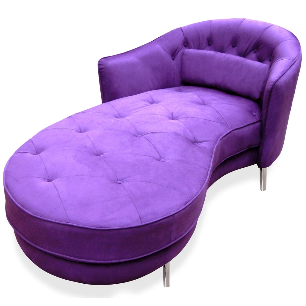 Zuri Furniture Pertaining To Purple Chaise Lounges (Gallery 2 of 15)