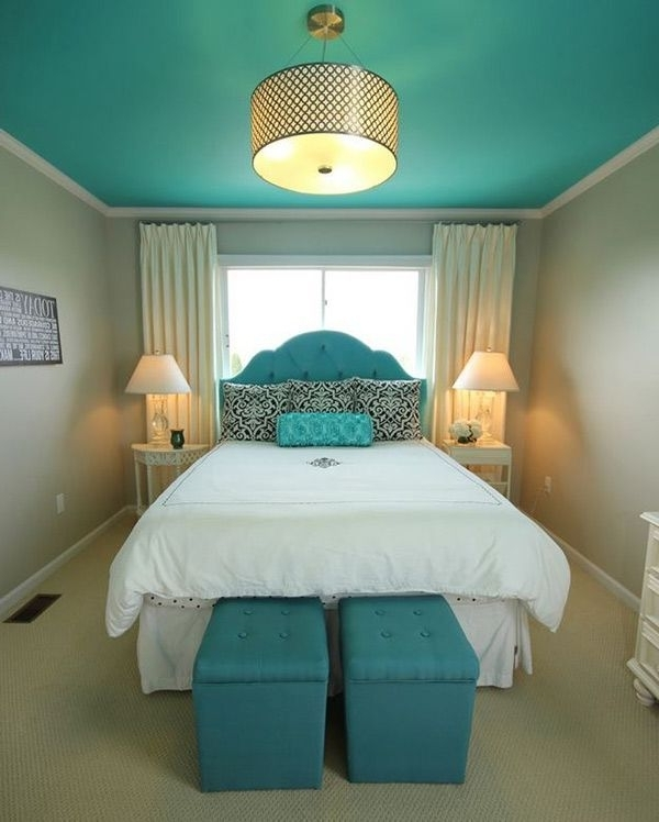 20 Fashionable Turquoise Bedroom Ideas (View 6 of 10)