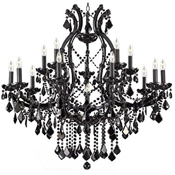 2017 Black Chandelier In Jet Black Chandelier Crystal Lighting Chandeliers 37x38 – – Amazon (View 2 of 10)