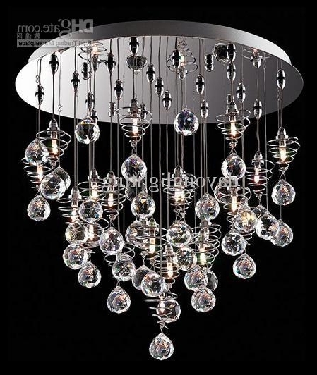 2017 Crystal Chandelier Modern Lamp /glass Ball Lamp Hanging Lampdy1020 Inside Modern Glass Chandeliers (View 4 of 10)