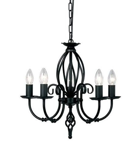 2017 Elstead Artisan 5 Light Black Chandelier (View 2 of 10)