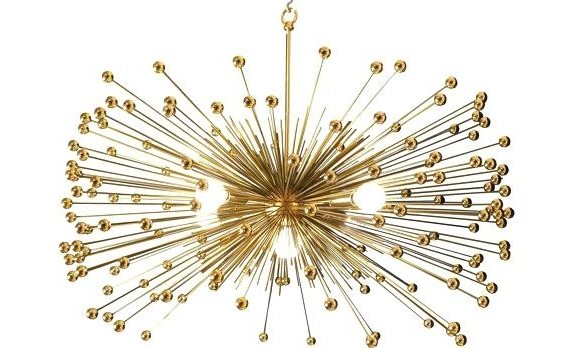 2017 Gold Modern Chandelier For Modern Gold Chandelier Modern Metallic Orb Chandelier Gold Or Silver (View 9 of 10)