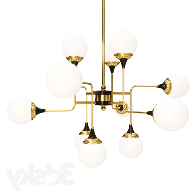 2017 Italian Chandelier Style Throughout 3D Models: Ceiling Light – Stilnovo Style Italian Chandelier (View 1 of 10)