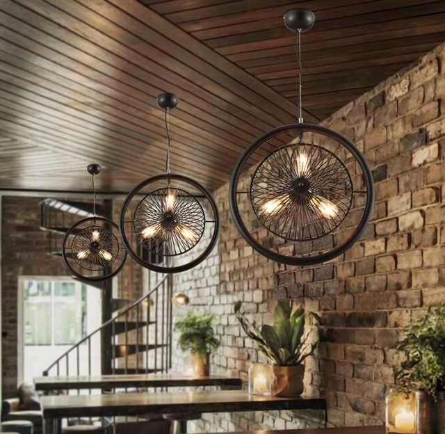 2017 New American Industrial Vintage Personality Bar Cafe Restaurant With Most Recently Released Restaurant Chandelier (View 2 of 10)