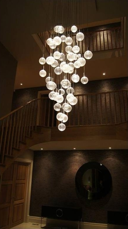 2017 Stairway Chandeliers Intended For Entrance Chandelier? Glass Chandeliers – Contemporary Led (View 1 of 10)