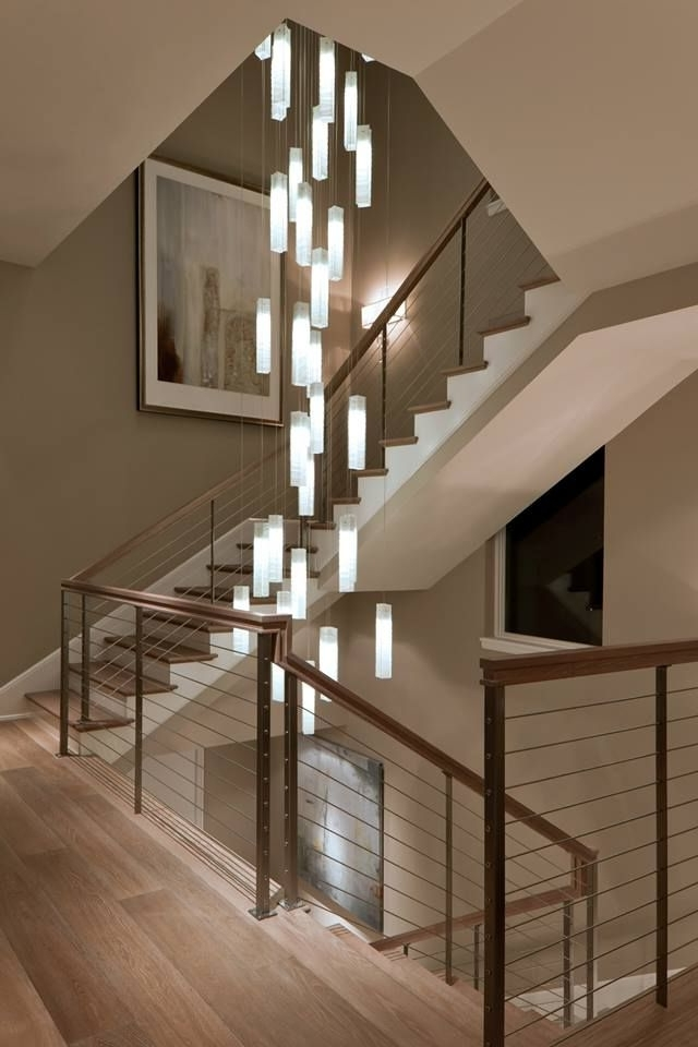 2017 Stairwell Chandeliers Within Elegance In Lighting (View 1 of 10)