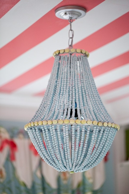 2017 Upcycle A Plain Chandelier Into A Beaded Showpiece With Regard To Turquoise Beaded Chandelier Light Fixtures (View 6 of 10)