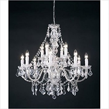 2018 12 Light Crystal Chandelier Finish: Clear Acrylic: Amazon.co (View 1 of 10)