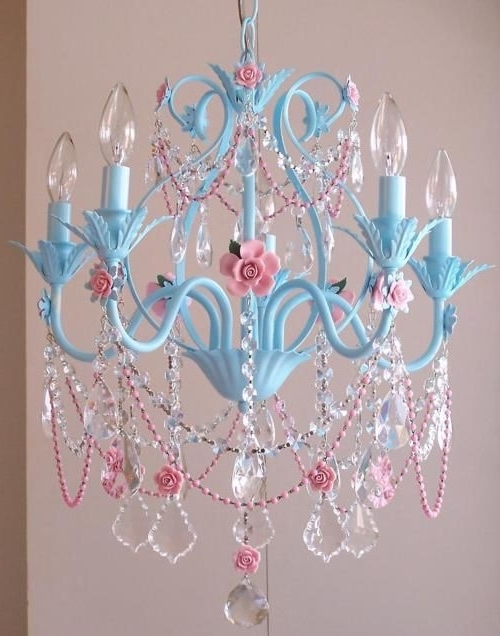 2018 Blue & Pink Chandelier, If I Ever Get My Scq Office The Way I Want Within Turquoise And Pink Chandeliers (View 3 of 10)