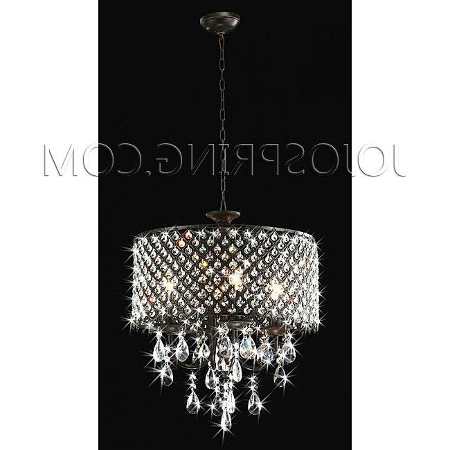 2018 Cheap Modern Crystal For Chandeliers Lighting On Sale – Iron/candle In 4 Light Crystal Chandeliers (View 8 of 10)