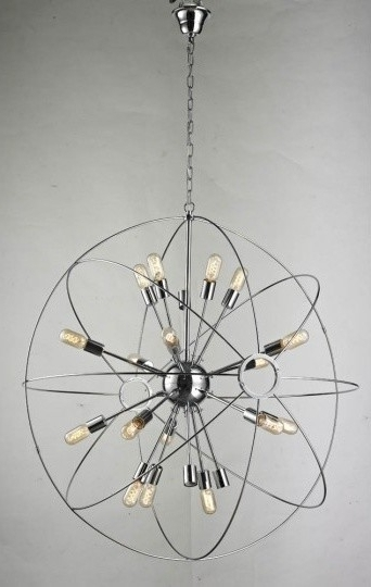2018 Chrome Sputnik Chandeliers Within Large Sputnik Chandelier With Chrome Finish Pertaining To Stylish (View 2 of 10)