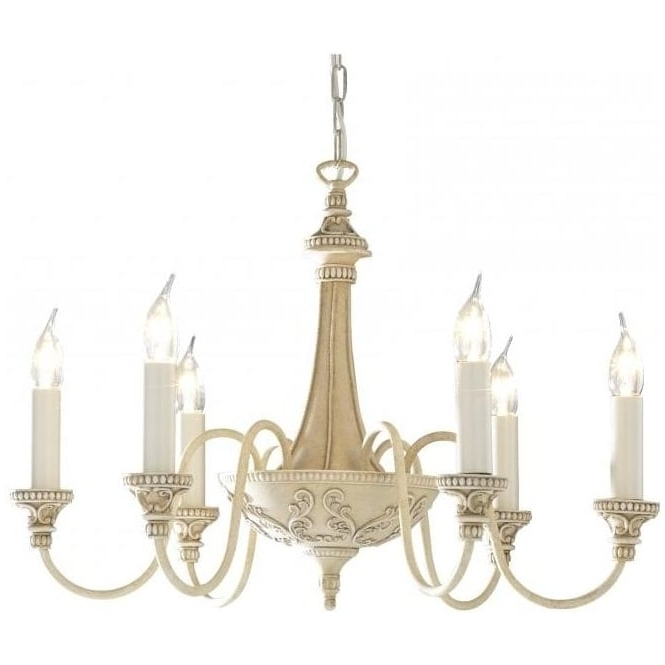 2018 Cream Ceiling Light Bailey Elegant Edwardian Chandelier In French Style With Cream Chandelier (View 4 of 10)