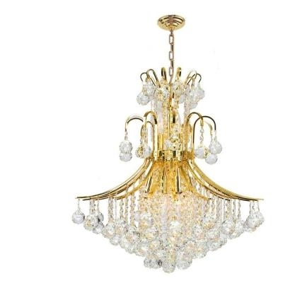 2018 Crystal Gold Chandelier With Regard To Great Gold Crystal Chandelier 64 With Additional Home Designing For (View 10 of 10)