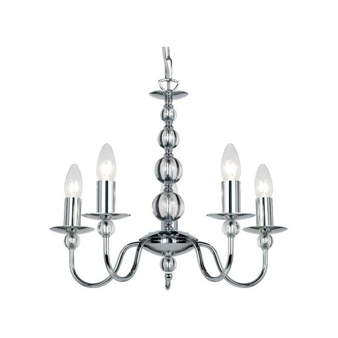 2018 Endon Lighting Chandeliers Regarding Endon Lighting Classic Flemish Style 5 Light Chandelier In Polished (View 9 of 10)