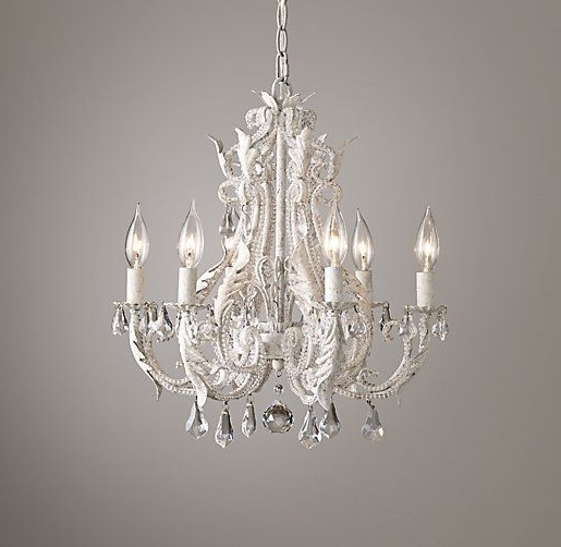 2018 Palais Small Chandelier Rustic White: For Over The Bathtub In Small White Chandeliers (View 2 of 10)