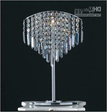 2018 Photos Crystal Chandelier Table Lamp Antique With Regard To Lamps With Faux Crystal Chandelier Table Lamps (View 2 of 10)