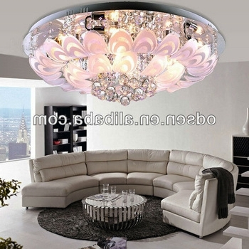 2018 Small Chandeliers For Low Ceilings Pertaining To Low Ceiling Flower Small Red Light Crystal Chandelier – Buy Small (View 5 of 10)