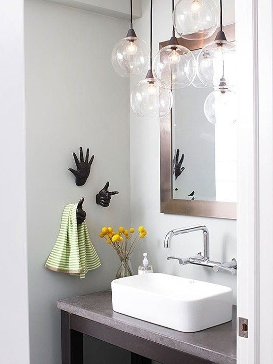 25 Creative Modern Bathroom Lights Ideas You'll Love – Digsdigs Intended For Most Recently Released Modern Bathroom Chandelier Lighting (View 10 of 10)