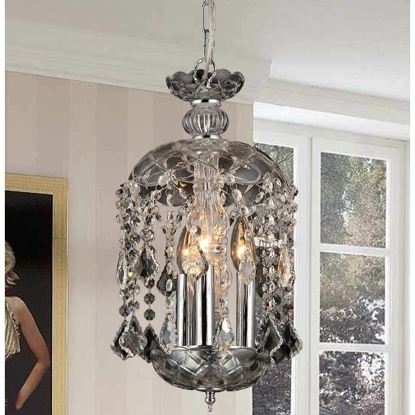 3 Light Crystal Chandeliers Regarding 2017 Warehouse Of Tiffany Karla 3 Light Crystal Chandelier & Reviews (View 2 of 10)