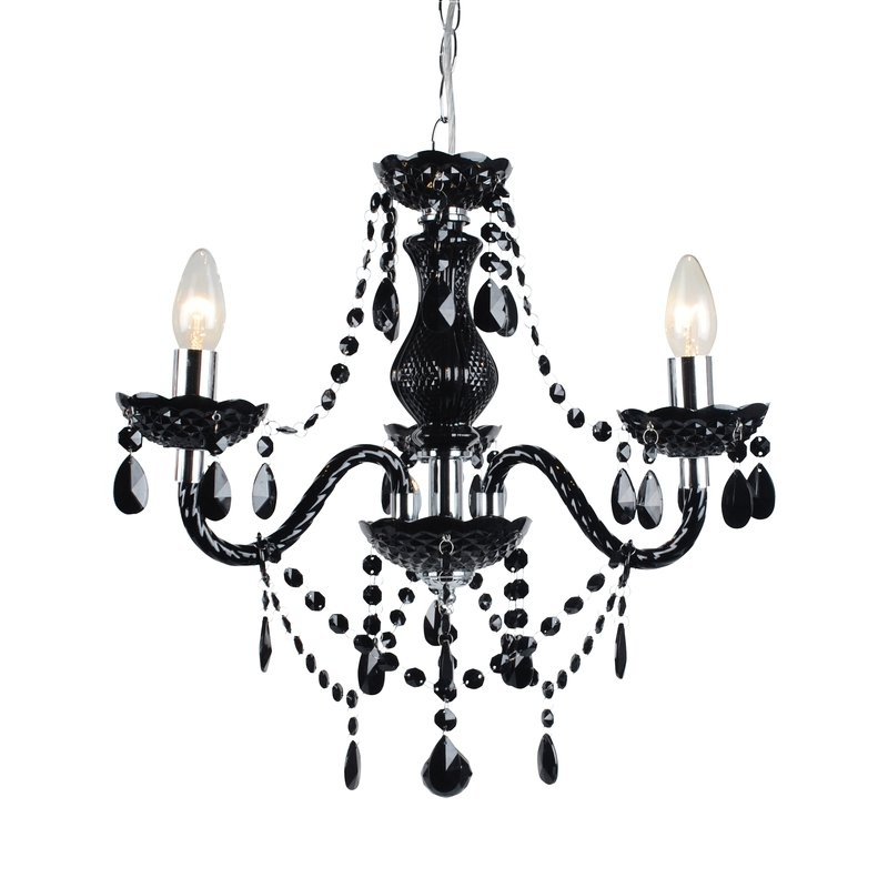 3 Light Crystal Chandeliers Regarding Most Popular First Choice Lighting Marie Therese 3 Light Crystal Chandelier (View 3 of 10)