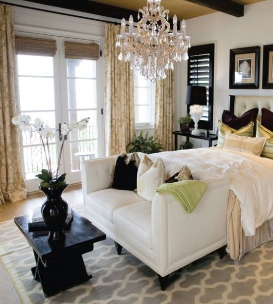 37 Startling Master Bedroom Chandeliers That Exudes Luxury For Current Chandeliers In The Bedroom (View 2 of 10)