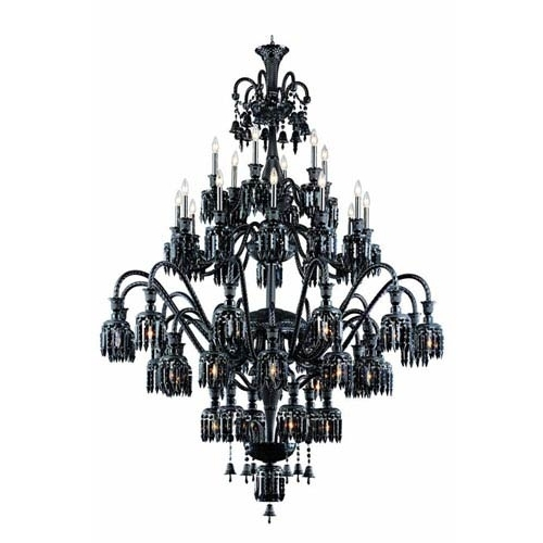 500+ Crystal, Wrought Iron & Mini Chandeliers In For Black Chandelier (View 10 of 10)